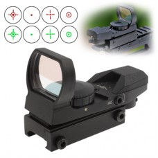 Red/Green Dot Reflex Sight with 4 Different Reticles