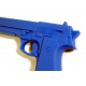 Rubber Beretta Training Gun BLUE