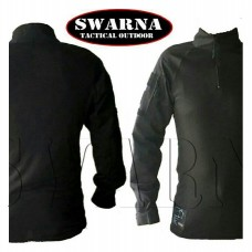 Swarna Tactical Long Sleeve Comat Shirt - BLACK