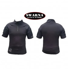 Swarna Tactical Short Sleeve Comat Shirt - BLACK